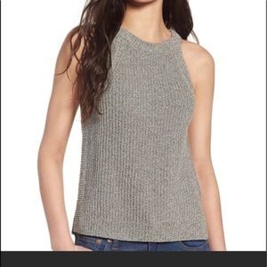 Madewell Valley Heather Grey Sweater Tank Size L